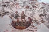 Bountiful sea with fishermen in a small boat, Thuburbo-Majus (Le Fahs) 4-5th C. AD