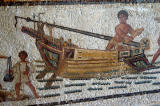 Mosaic of a boat, Sousse, 3rd. C. AD