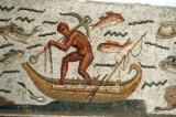 Detail of the Neptune Mosaic - man with anchor