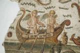 Detail of the Neptune Mosaic - boat with a pair of cupids