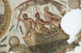 Detail of the Neptune Mosaic - spearing a sea monster