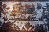 Mosaic depicitng life in Roman Africa, 3rd C. AD