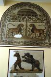 Mosaic of 2 lions, Carthage 4th. C AD