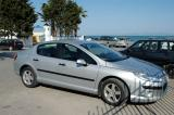 Our rental car, a Peugeot 407, a bit slicker than the 206