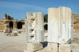 Carved stones with Latin inscriptions, Antonine Baths, Carthage