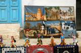 Carpets depicting touristy scenes of Tunisia