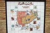 Map of the Medina of Kairouan in Tunisian tilework