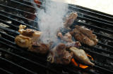 Fresh meat on the grill