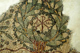 Detail of the christian mosaic from the Basilica of Sts. Sylvanus and Fortunatus