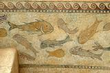 Mosaic of fish and sealife, 4th-5th C. AD