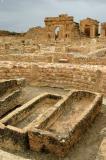 Exposed sarcophagi, Church of St. Servus