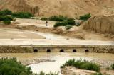There's a little bit of water in the Oued El Hatab, Kasserine