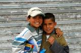 Smiling Tunisian kids in Fériana