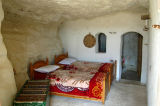Room of the troglodyte guesthouse, the Residence Douiret