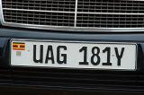 Ugandan license plate