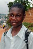 Lukyamuzi Swaibu, a student from the Kasubi Secondary School, Kampala