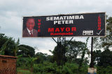 Sematimba Peter for Mayor of Kampala - he certainly wins for billboard size