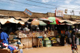 Market stands around the New Taxi Park, Kampala