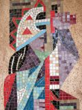 Detail of the mosaic on the National Theatre, Kampala