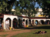 Uganda Arts & Crafts Village, a tourist oriented market behind the National Theatre