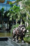 Lion statue in front of the Kilimanjaro Hotel