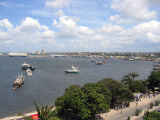 Dar es Salaam harbor seen from the tower of Azania Front Lutheran Church