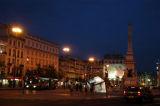 Praça dos Restauradores at night