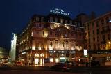 Hotel Avenida Palace at night, Lisbon