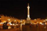 Praça Dom Pedro IV at night