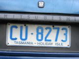 Old license plate from Tasmania
