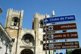 Sé Catedral with directional signs to sites of touristic interest