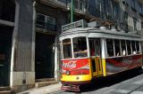 Tram coming down Rua Augusto Rosa