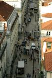 Rua Santa Justa from the top of the elevator