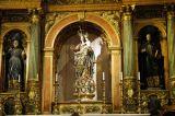 Behind the main altar, Side chapel, Igreja São Roque