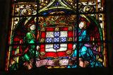 Portuguese coat-of-arms in stained glass, Igreja de Santa Marina