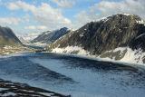 Djupvann lake, Grasdalsegga mountain from Dalsnibba mountain road