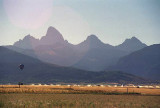 The western slope of the Tetons seen from Tetonia - Driggs, Idaho