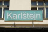 Sign at Karlštejn Railway Station