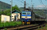 Czech Railways train at Karlštejn Station