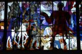 Stained glass windows - Beroun Railway Station