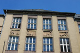 Business Academy and State Language School with reliefs of  Industry, Commerce, Agriculture, Transportation - Beroun