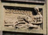 Relief sculpture Zemedelsvi (Agriculture), U Stadionu, Beroun