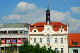 Husovo náměstí, the main square of Beroun with City Hall