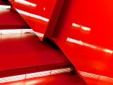 Odile Decq's shiny scarlet