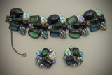 Elsa Schiaparelli bracelet & earrings 1950s full detail