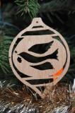 Hand made wood Peace Dove