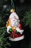 Blown glass Santa