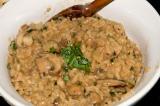 creamy crimini mushroom risotto
