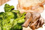 roast pork tenderloin served