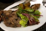 grilled lamb served